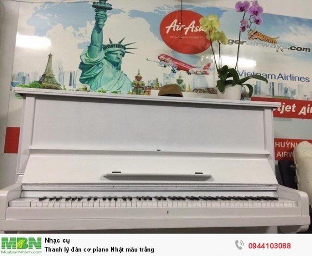 Thanh lý đàn cơ piano Nhật màu trắng0
