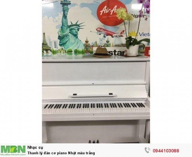 Thanh lý đàn cơ piano Nhật màu trắng1