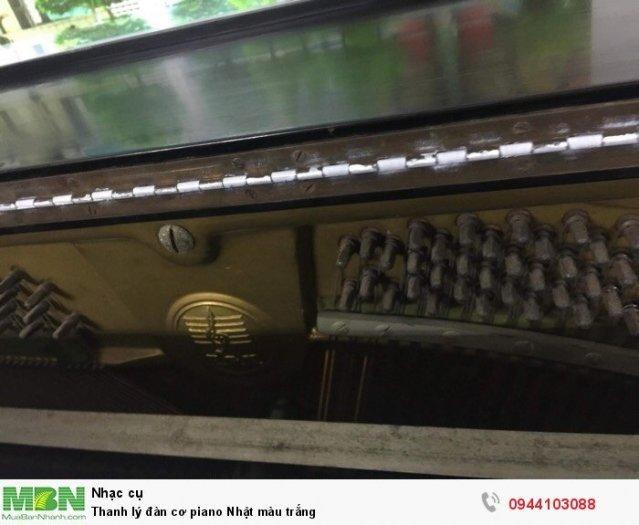 Thanh lý đàn cơ piano Nhật màu trắng2