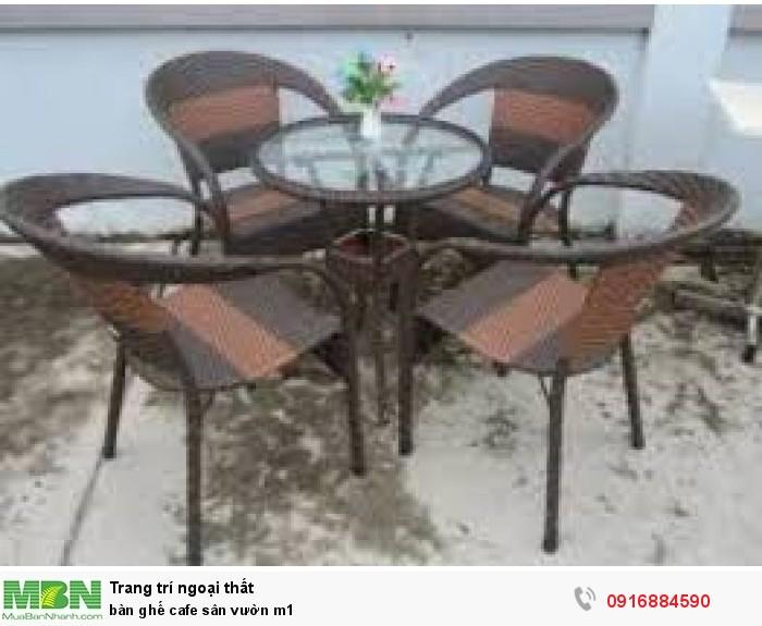 Bàn ghế cafe sân vườn m10
