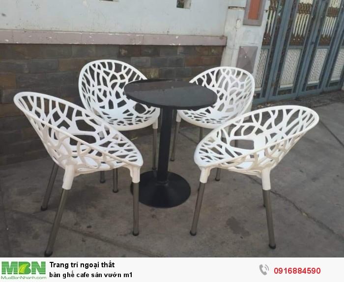 Bàn ghế cafe sân vườn m11