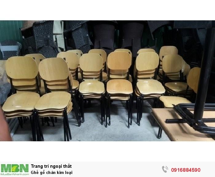 Ghế gỗ chân kim loại2