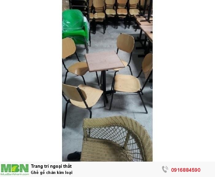 Ghế gỗ chân kim loại3
