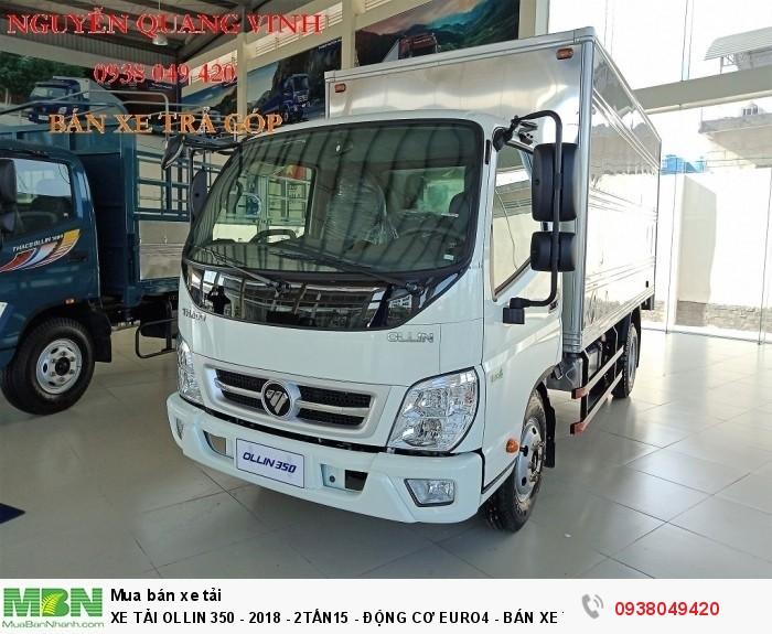 Xe Tải Ollin 350 - Euro 4 - Mới nhất - 2,15 & 3,49 tấn - Động Cơ Euro4 - Bán Xe Trả Góp
