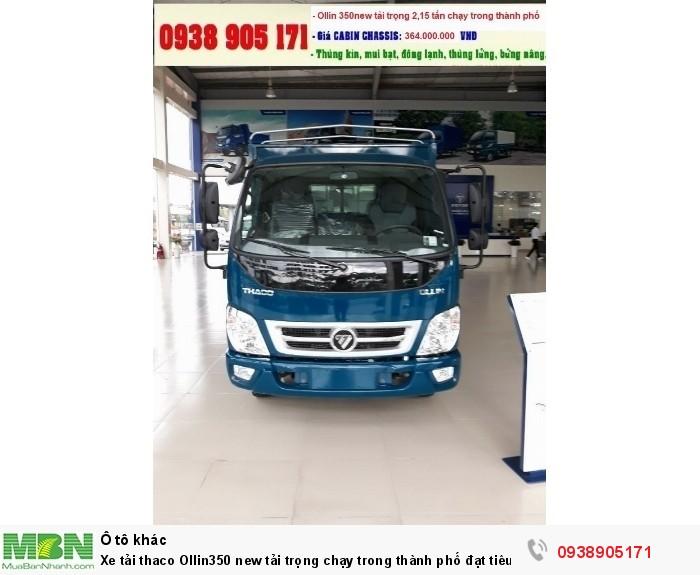 Xe tải thaco Ollin350 new tải trọng chạy trong thành phố đạt tiêu chuẩn khí thải EURO IV
