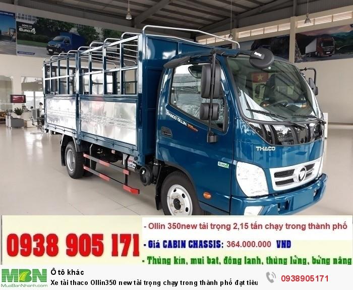 Xe tải thaco Ollin350 new tải trọng chạy trong thành phố đạt tiêu chuẩn khí thải EURO IV 1