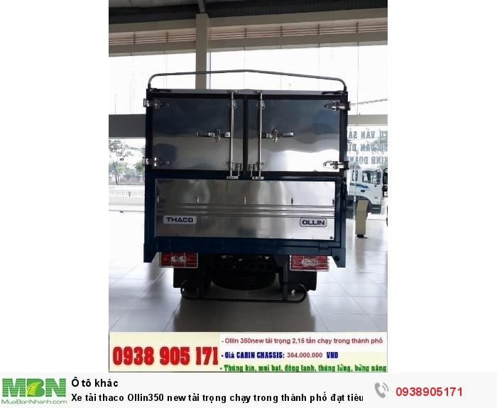 Xe tải thaco Ollin350 new tải trọng chạy trong thành phố đạt tiêu chuẩn khí thải EURO IV 5