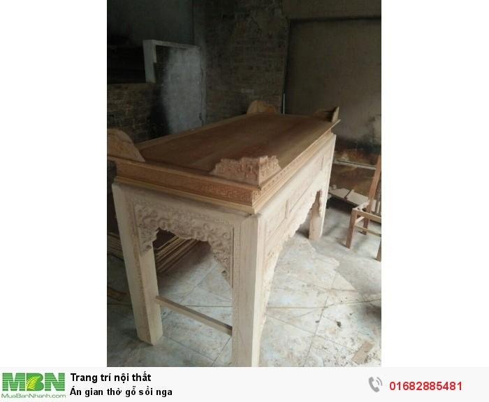 Án gian thờ gỗ sồi nga6