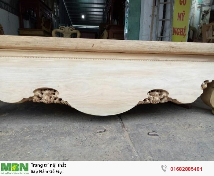 Sập ngồi kiểu trơn và 3 bông gỗ gụ7