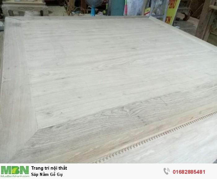 Sập ngồi kiểu trơn và 3 bông gỗ gụ11