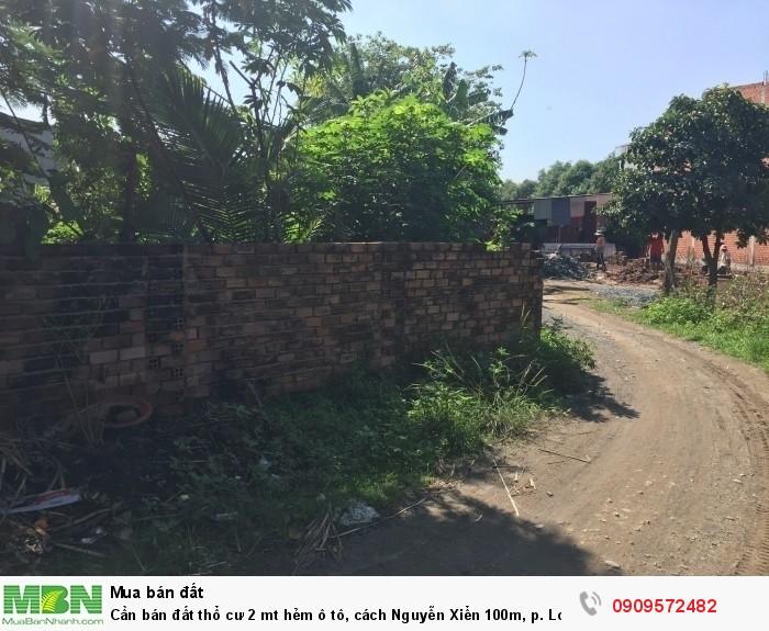 Cần bán đất thổ cư 2 mt hẻm ô tô, cách Nguyễn Xiển 100m, p. Long thạnh mỹ, q. 9, giá 18,5tr/m2