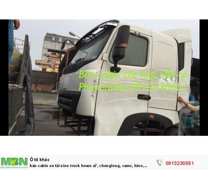 Bán Cabin Xe Tải Sino Truck Howo A7, Chenglong, Camc, Hino, Vinaxuki, Tmt, Cửu Long, Jac, Isuzu, 0