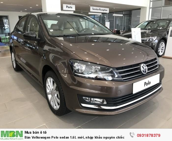 Bán Volkswagen Polo sedan 1.6L mới, nhập khẩu nguyên chiếc, hỗ trợ vay 80% giá trị xe 1