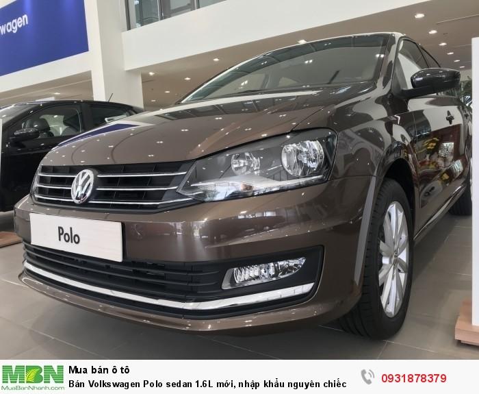 Bán Volkswagen Polo sedan 1.6L mới, nhập khẩu nguyên chiếc, hỗ trợ vay 80% giá trị xe 2