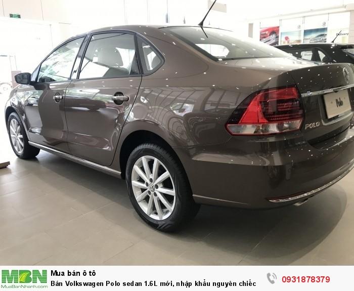 Bán Volkswagen Polo sedan 1.6L mới, nhập khẩu nguyên chiếc, hỗ trợ vay 80% giá trị xe 4