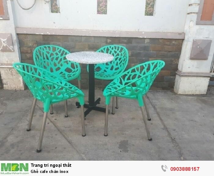 Ghế cafe chân inox