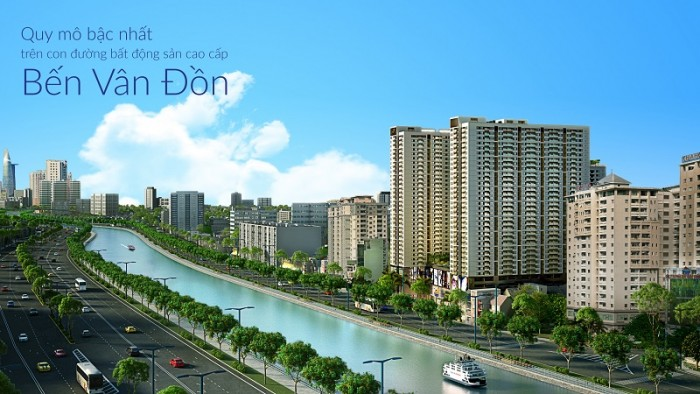 Cho thuê căn hộ cao cấp The Gold View 1pn,1wc, 15tr (bao phí quản lý)