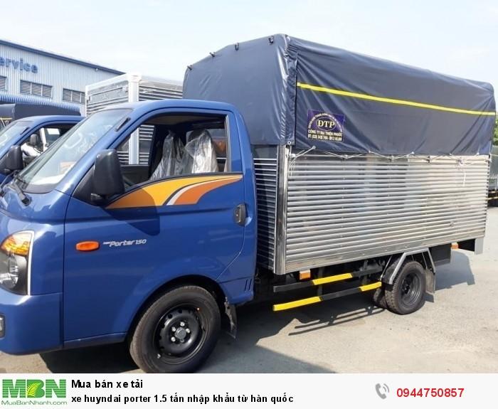 Xe Huyndai Porter 1.5 tấn nhập khẩu từ Hàn Quốc