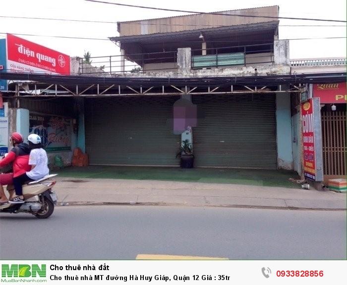 Cho thuê nhà MT đường Hà Huy Giáp, Quận 12 Giá : 35tr
