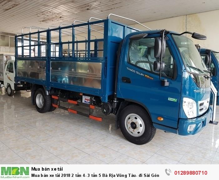 Mua bán xe tải 2018 2 tấn 4- 3 tấn 5 Bà Rịa Vũng Tàu- đi Sài Gòn- trả góp lãi thấp 1