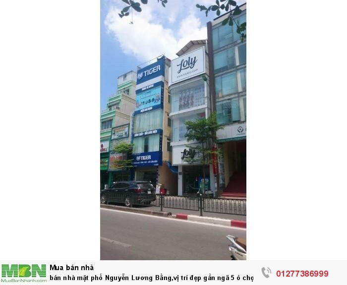 Bán nhà mặt phố Nguyễn Lương Bằng,vị trí đẹp gần ngã 5 ô chợ dừa,kinh doanh tốt