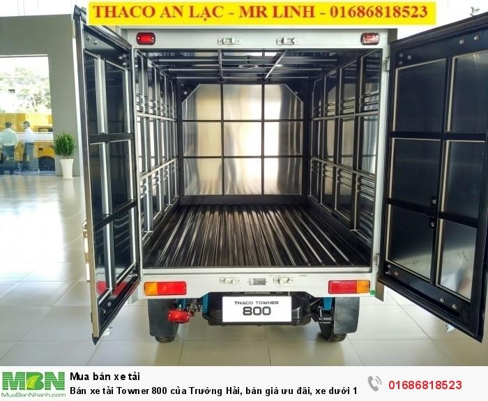 Bán xe tải Towner 800 của Trường Hải, bán giá ưu đãi, xe dưới 1 tấn, có hỗ trợ trả góp 3
