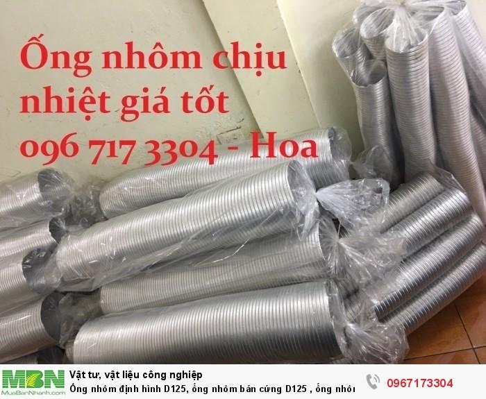 Ống nhôm định hình D125, ống nhôm bán cứng D125 , ống nhôm chịu nhiệt
