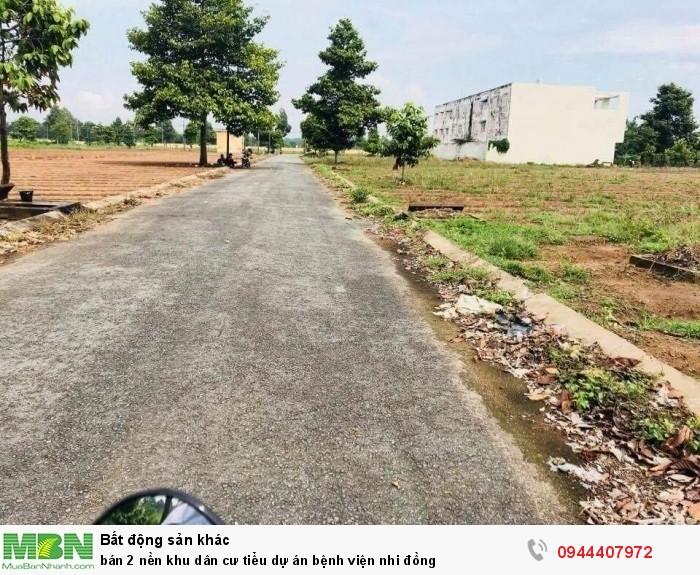 Bán 2 nền khu dân cư tiểu dự án bệnh viện nhi đồng