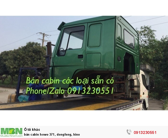 Bán cabin howo 371, Dongfeng, Hino