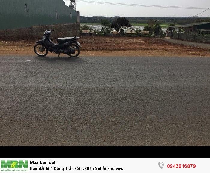Bán đất lô 1 Đặng Trần Côn. Giá rẻ nhất khu vực