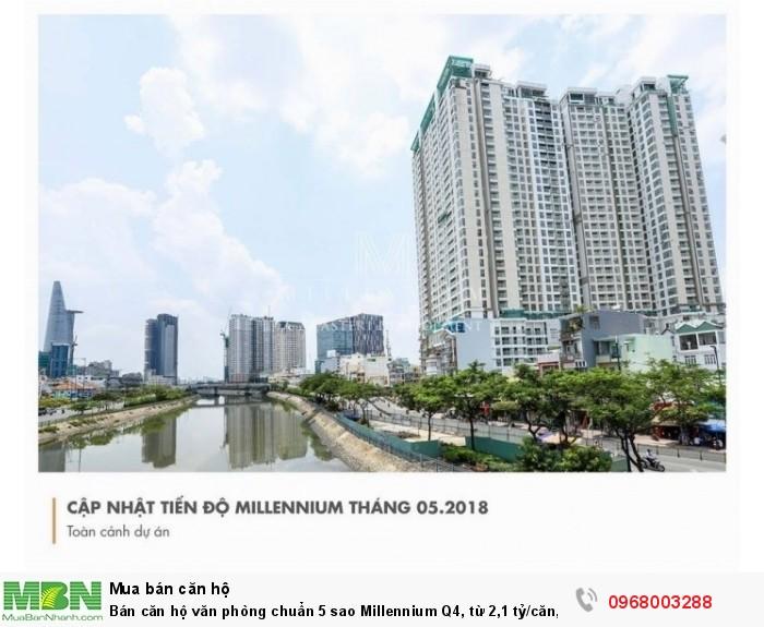 Bán căn hộ văn phòng chuẩn 5 sao Millennium Q4, từ 2,1 tỷ/căn, Ck cao, nhà hoàn thiện,