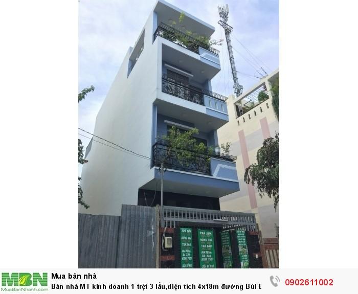 Bán nhà MT kinh doanh 1 trệt 3 lầu,diện tích 4x18m đường Bùi Đình Túy,Bình Thạnh
