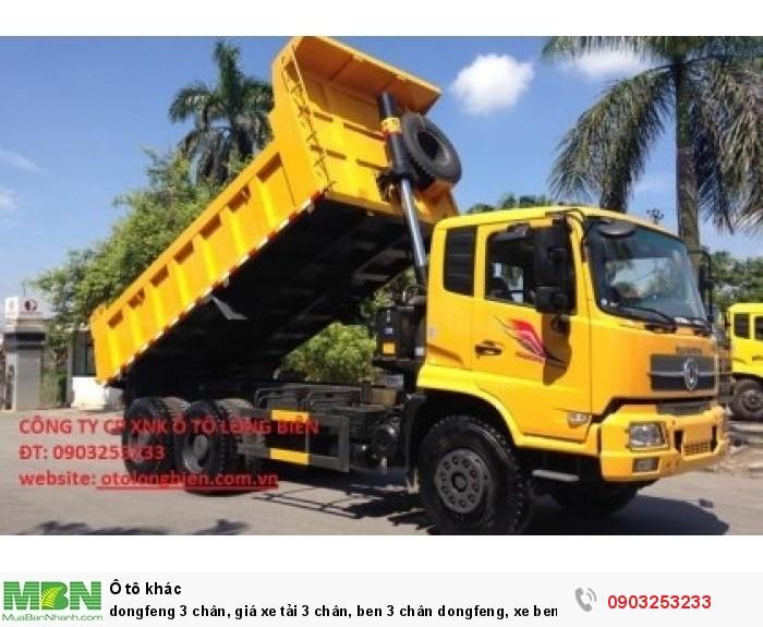 Xe Dongfeng Hoang Huy, xe ben 3 chân dongfeng cầu dầu 0