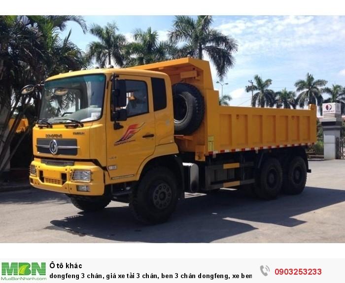 Xe Dongfeng Hoang Huy, xe ben 3 chân dongfeng cầu dầu 1