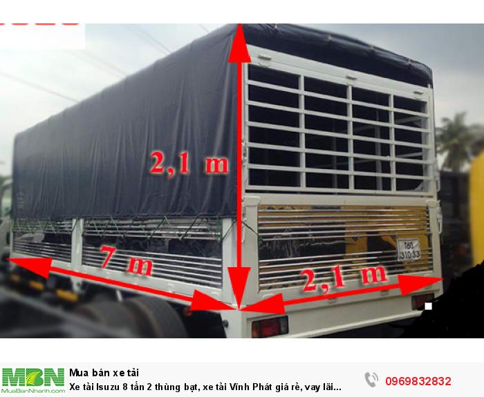 Giá Xe tải Isuzu 8 tấn 2 thùng bạt, xe tải Vĩnh Phát giá rẻ, vay lãi suất ưu đãi nhất