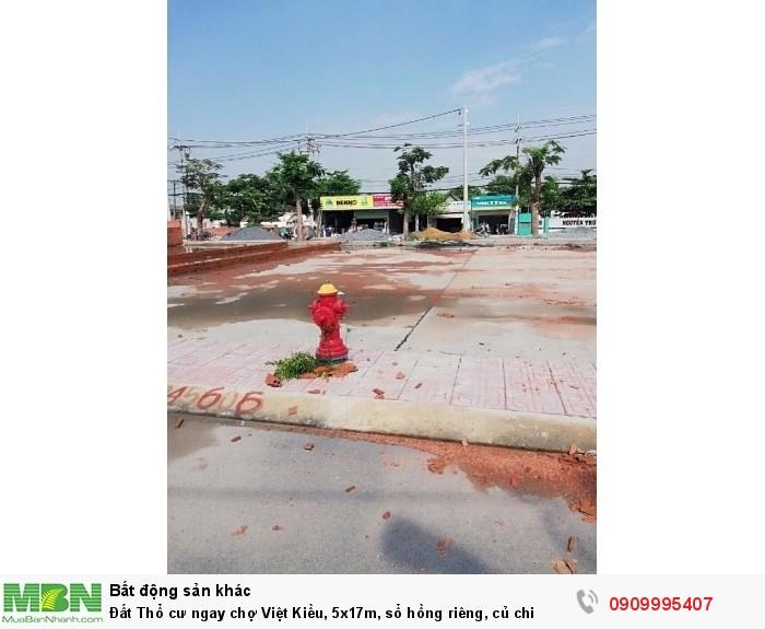 Đất Thổ cư ngay chợ Việt Kiều, 5x17m, sổ hồng riêng, củ chi