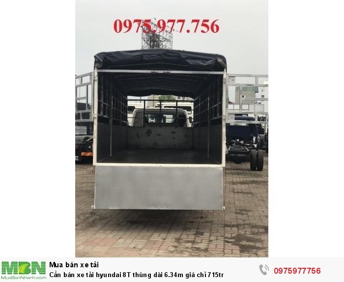 Cần bán xe tải hyundai 8T thùng dài 6.34m giá chỉ 715tr