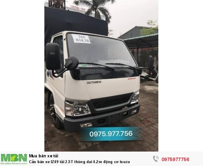 Cần bán xe IZ49 tải 2.5T thùng dai 4.2m động cơ isuzu