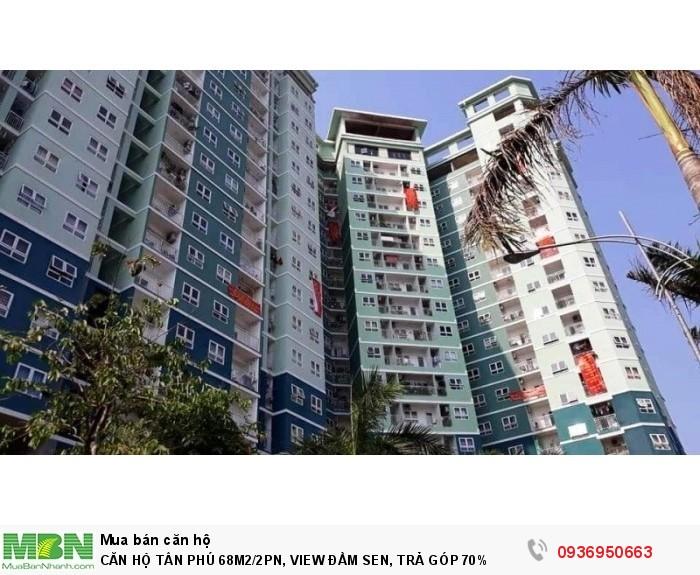 Căn Hộ Tân Phú 68m2/2pn, View Đầm Sen, Trả Góp 70%
