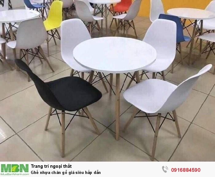 Ghế nhựa chân gỗ giá siêu hấp dẫn1