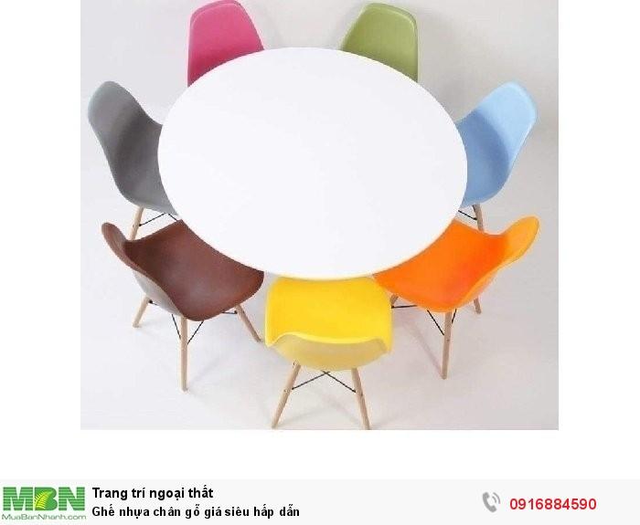 Ghế nhựa chân gỗ giá siêu hấp dẫn2
