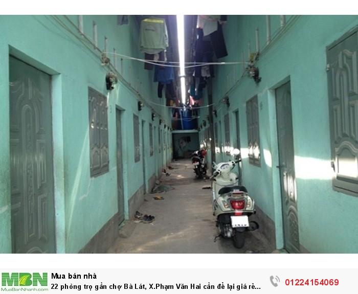 22 phòng trọ gần chợ Bà Lát, X.Phạm Văn Hai cần để lại giá rẻ 350m2