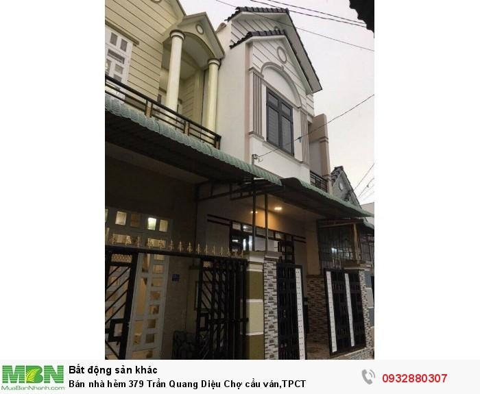 ( h057) Bán nhà hẻm 379 Trần Quang Diệu Chợ cầu ván,TPCT