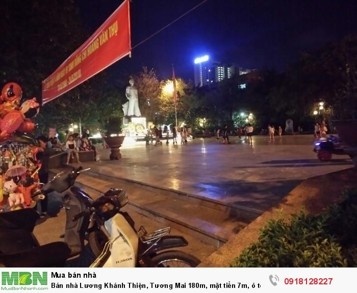 Bán nhà Lương Khánh Thiện, Tương Mai 180m, mặt tiền 14m, ô tô tránh, giá 11 tỷ