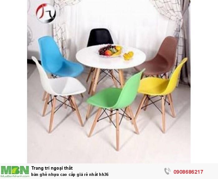 Bàn ghế nhựa cao cấp giá rẻ nhất hh363