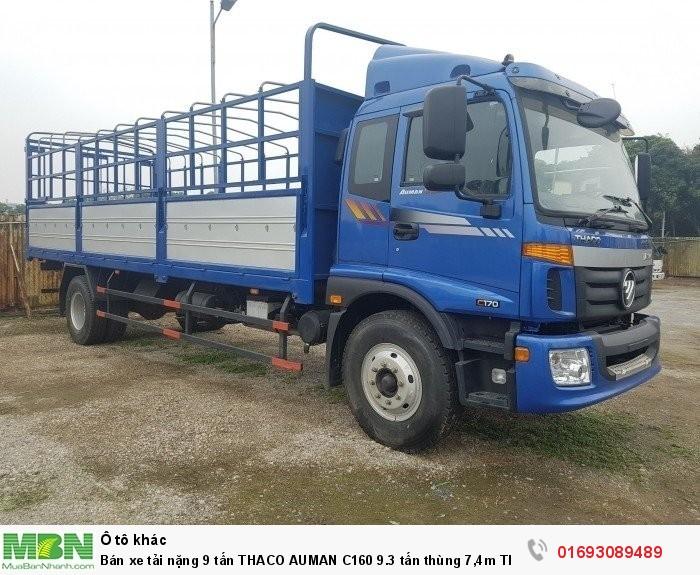 Bán xe tải nặng 9 tấn Thaco Auman C160 9.3 tấn thùng 7,4m Thaco An Sương