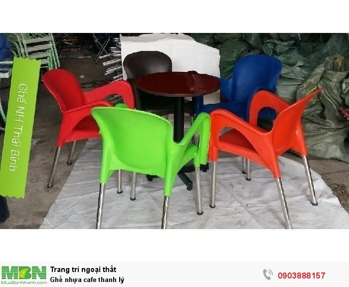 Ghế nhựa cafe thanh lý - ghế đúc thanh lý tại TP HCM, giao toàn quốc