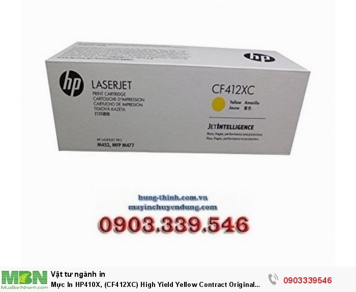 HP 410X, (CF412XC), High Yield Yellow Contract Original LaserJet Toner Cartridge0