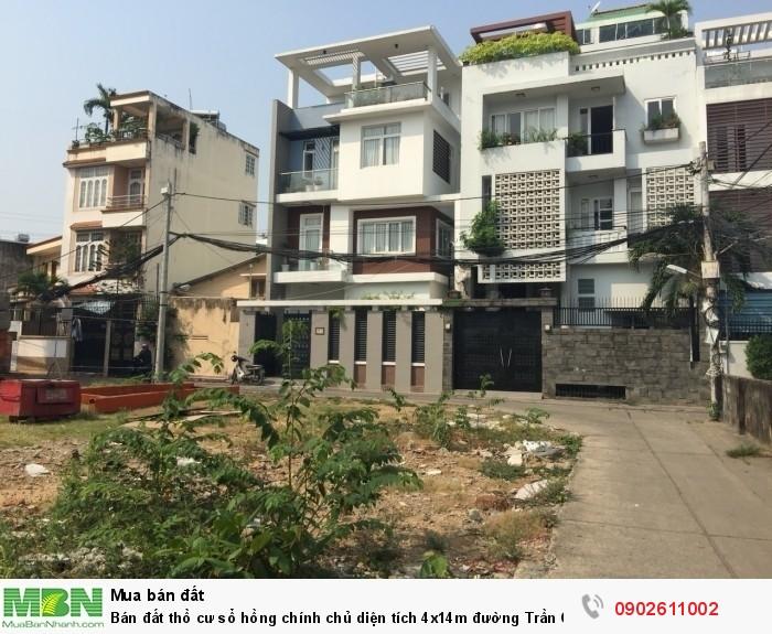 Bán đất thồ cư sổ hồng chính chủ diện tích 4x14m đường Trần Quốc Tuấn,Gò Vấp.