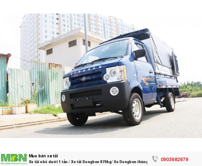 Xe tải nhỏ dưới 1 tấn / Xe tải Dongben 870kg/ Xe Dongben thùng mui bạt 870kg giá tốt 0